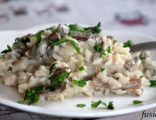 risotto funghi porcini secchi e panna