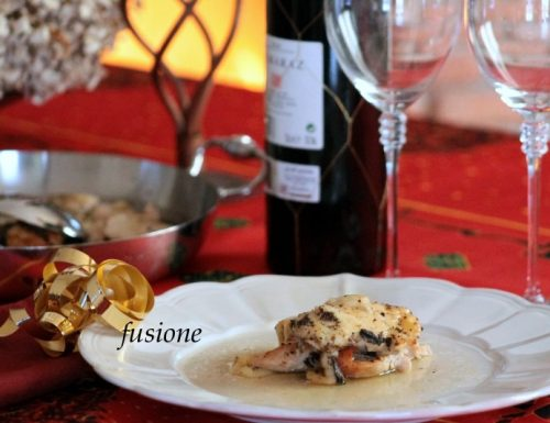 filetto tacchino forno con formaggio groviera e tartufo nero