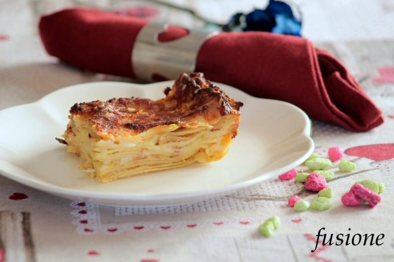lasagne porri e speck