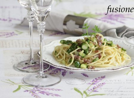 pasta asparagi e salame / ricette con asparagi