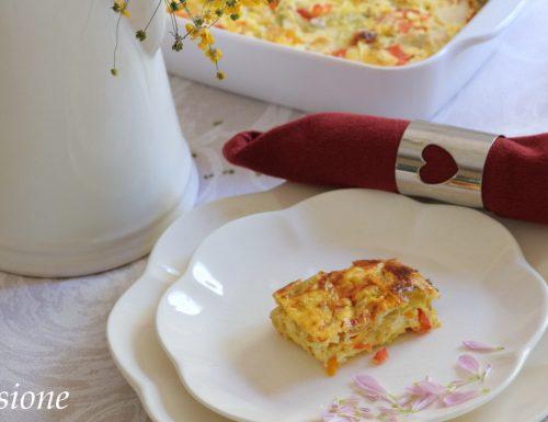 frittata peperoni e cipollotti al forno