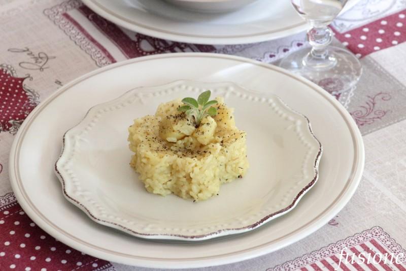 riso con patate zafferano ed erbe aromatiche