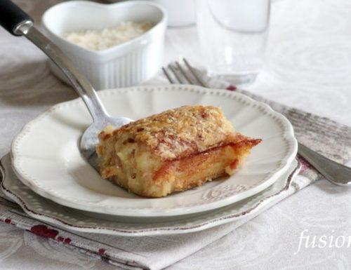 sformato di patate con mortadella e formaggio