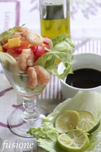cocktail gamberi e mango