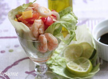 cocktail gamberi e mango / ricetta sfiziosa