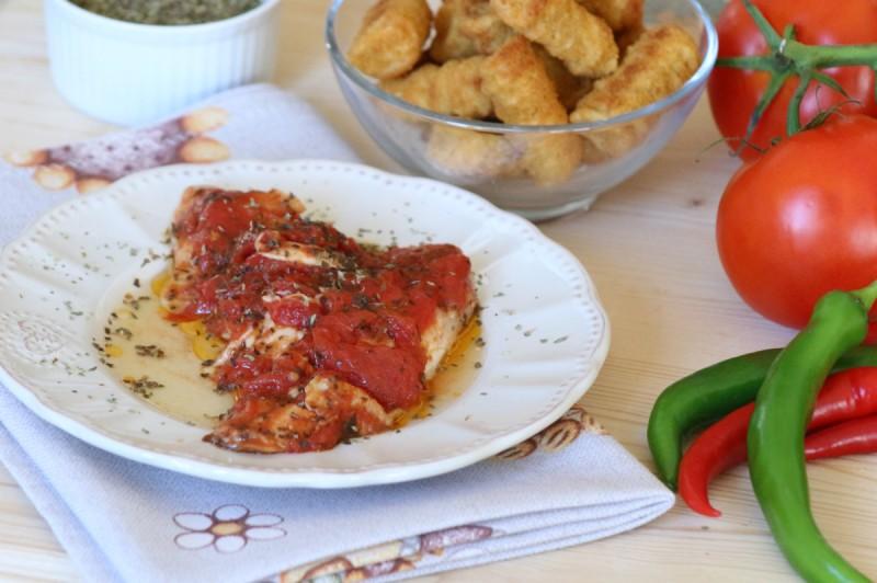 filetti di orata al sugo di pomodoro