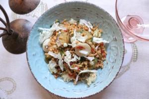 chicchi di grano in insalata / ricetta saporita