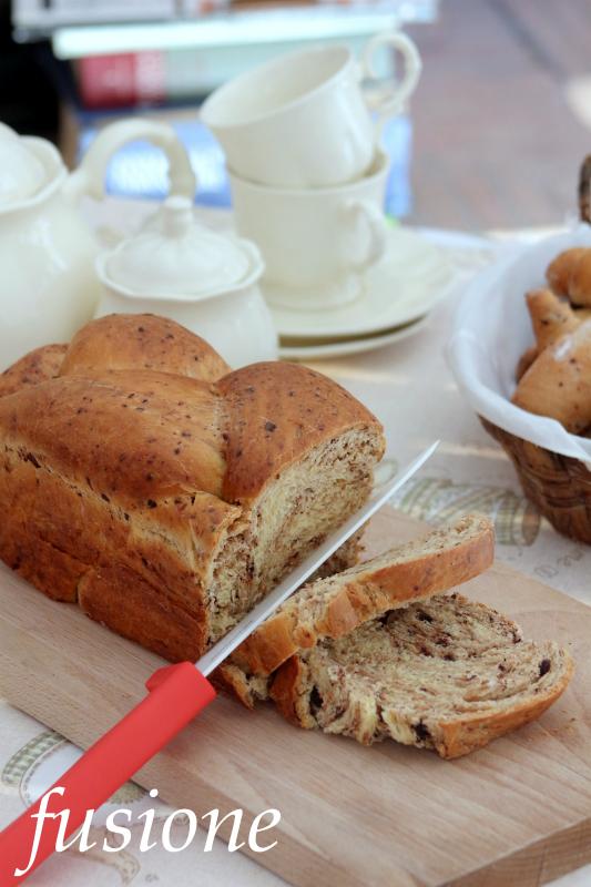 pan brioche con scaglie di cioccolato
