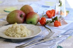 risotto con mele e gorgonzola / ricetta cremosa