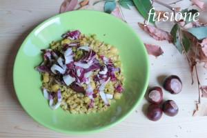 insalata di farro con legumi e radicchio