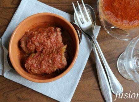 involtini di manzo con pancetta in umido