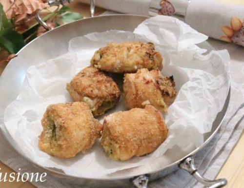 involtini di pollo con polpa di granchio