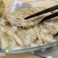 lonza di maiale con pere e formaggio