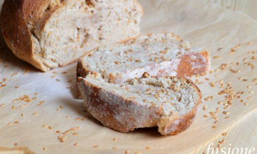 pane integrale al malto con zenzero e semi di lino