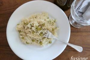 riso e piselli con formaggio / ricetta semplice