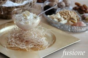 dessert con castagne e fichi secchi