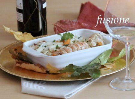 insalata di frutti di mare con verdure