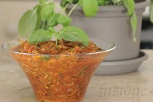 sugo zucchine carote con polpa di pomodoro