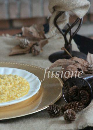 risotto con la zucca e gorgonzola, cremosità e gusto