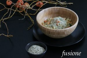 cous cous con verdure e semi di canapa
