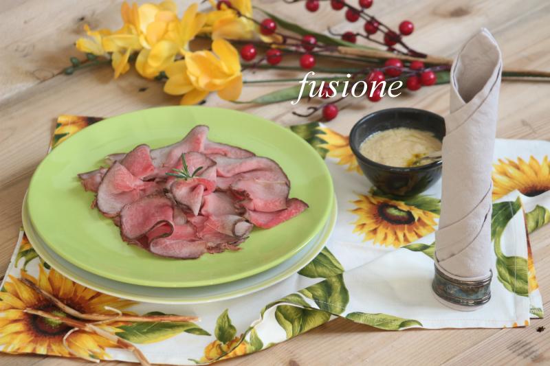 roast beef al forno con salsa al vino bianco