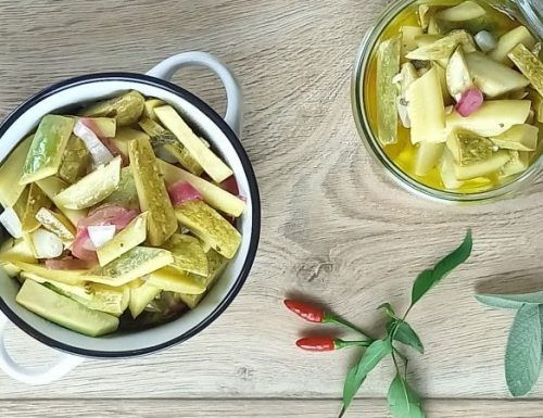 conserva di zucchine in agrodolce