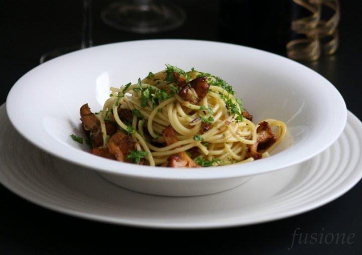 come fare gli spaghetti ai funghi finferli