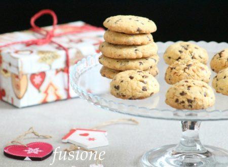 cookies alle mandorle e cioccolato