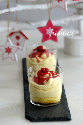 dessert alla crema e salsa melba