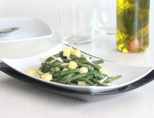 insalata di fagiolini con formaggio