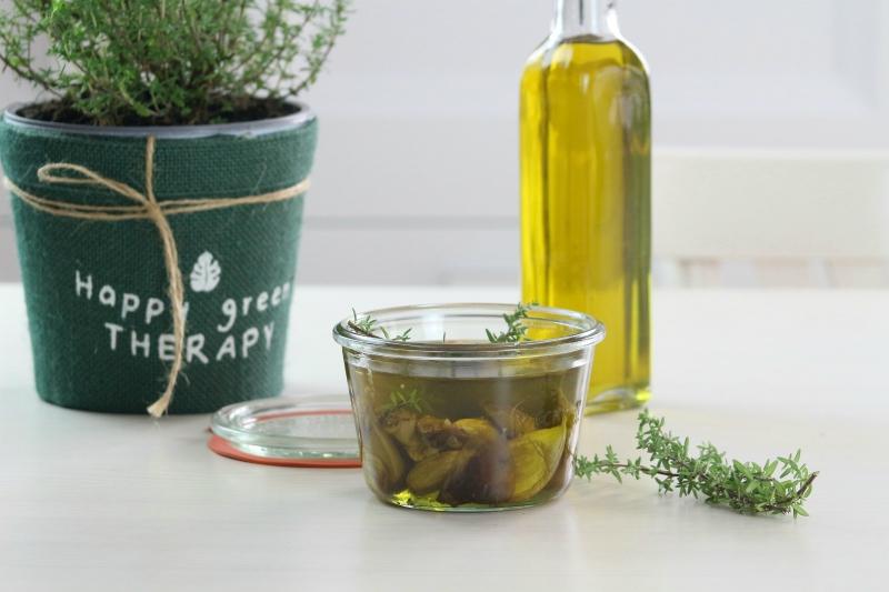 come conservare l'aglio sottolio