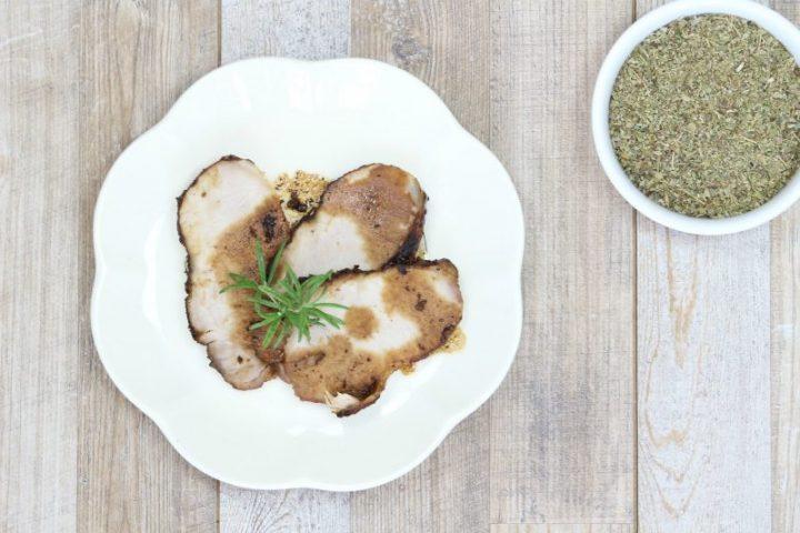 arrosto di maiale alle erbe aromatiche cotto in padella