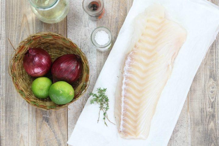 ingredienti per fare il filetto di merluzzo al lime