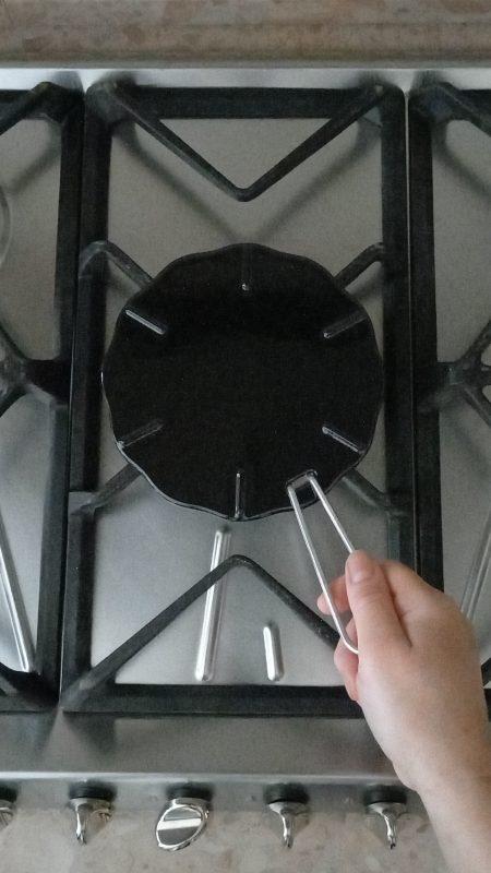 spargifiamma o piastra radiante per la cottura a bassa temperatura