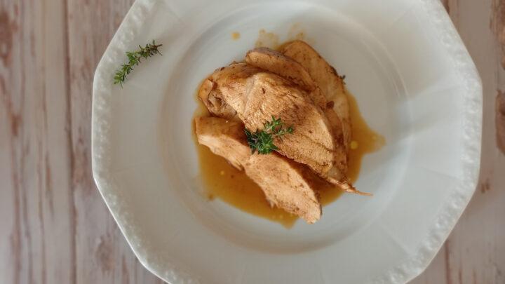 petto di pollo cotto con marinatura