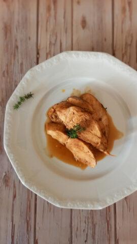 petto di pollo marinato e cotto al forno