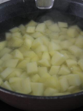 patate a cubetti lessate