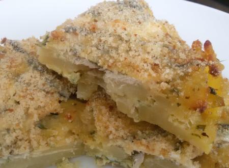 Sarde al forno con patate o topinambur