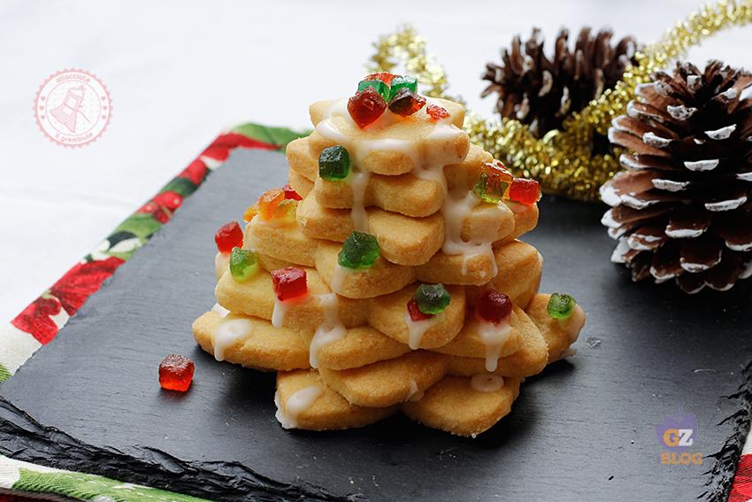 Alberelli Di Natale Biscotti.Albero Di Natale Di Biscotti Ricetta Facile Natale