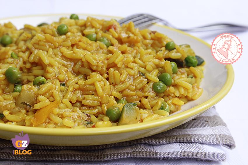 Riso Giallo Con Zucchine E Verdure Ricetta Senza Burro