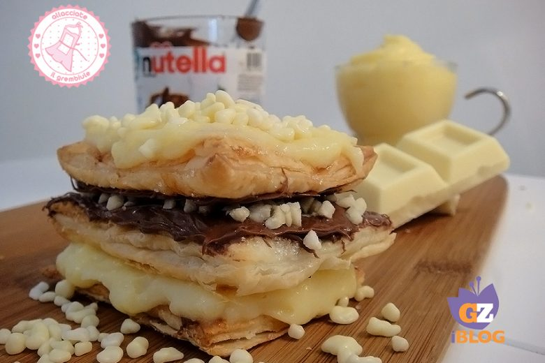 TORTA MILLEFOGLIE NUTELLA CHANTILLY