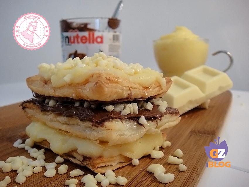 TORTA MILLEFOGLIE NUTELLA CHANTILLY