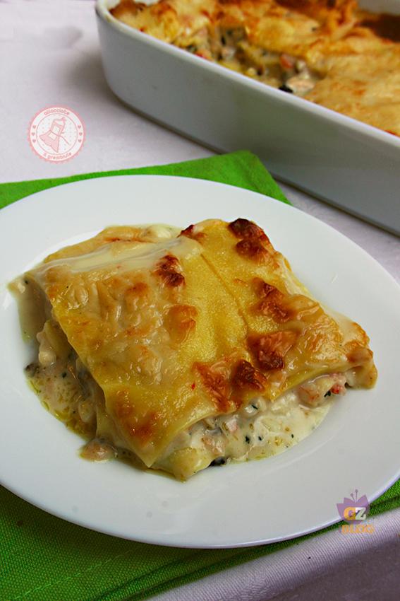 Lasagne di mare bianche cremose ricetta for Ricette italiane primi piatti