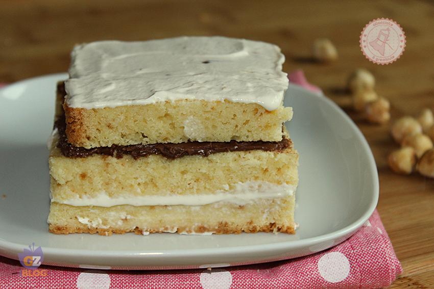 Top PAN DI SPAGNA FARCITO PANNA E NUTELLA ricetta torta facile RV09