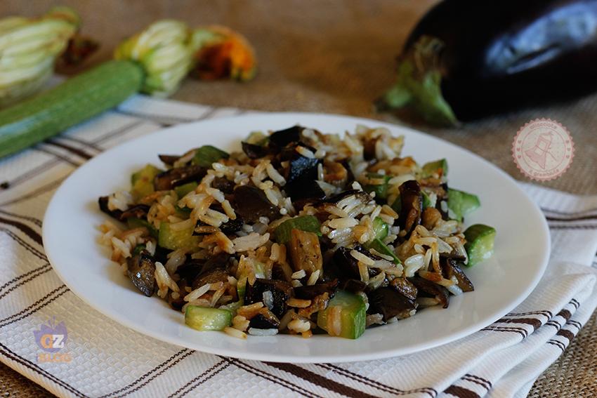 Riso zucchine e melanzane ricetta primo piatto veloce for Primo piatto veloce
