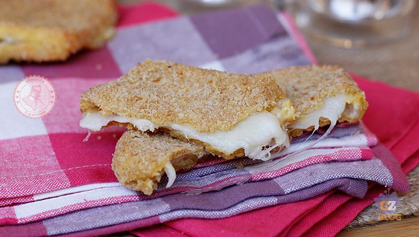 Mozzarella in carrozza al forno ricetta facile for Ricette mozzarella in carrozza al forno