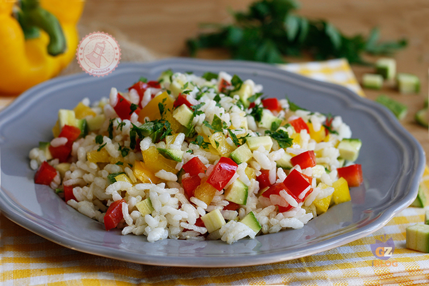 Top RISO CON VERDURE freddo ricetta primo piatto estivo DZ54