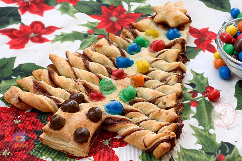 Dolce Di Natale Giallo Zafferano.Albero Di Natale Sfoglia E Nutella Ricetta Dolce Natale Veloce