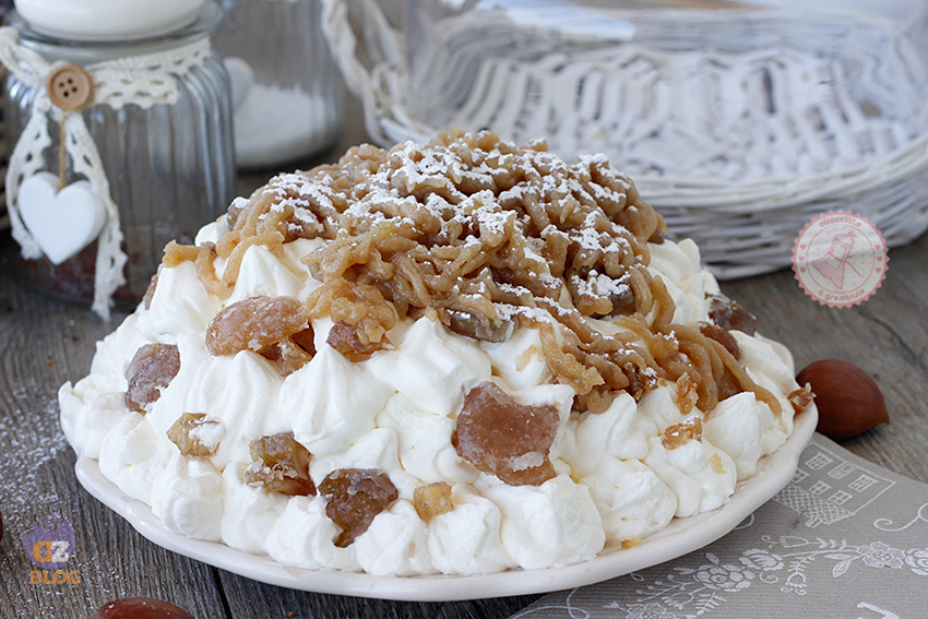 Montebianco dolce di castagne ricetta classica e veloce for Dolce di castagne