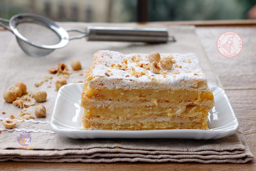 Millefoglie alla crema ricetta torta facile e veloce for Decorazione torte millefoglie